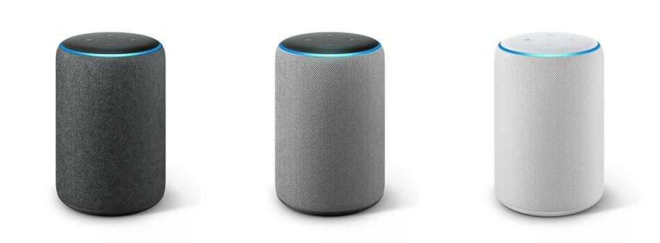 Amazon Echo Plus Hub (2nd Generation) - Color Options: Charcoal, Heather Gray, and Sandstone