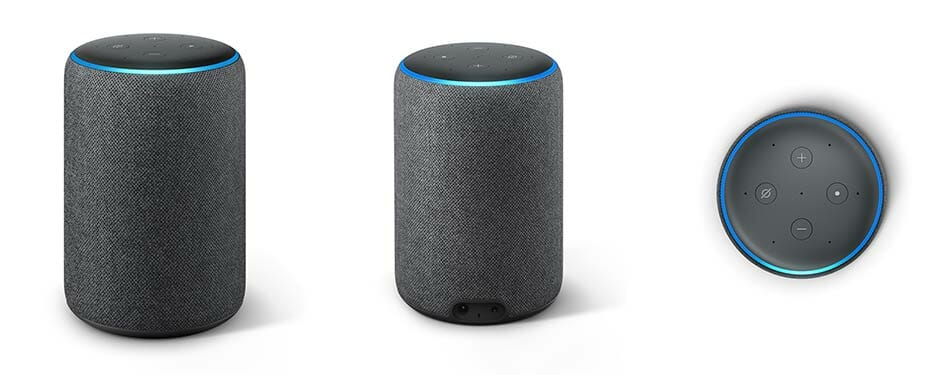 Amazon Echo Plus Hub (2nd Generation) - Front, Back, and Top