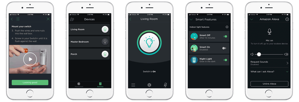 ecobee App - Installation, Devices, Switch Control, Smart Features, Alexa Integration