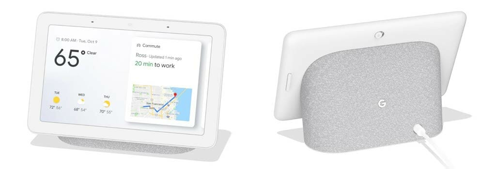 Google Home Hub - Front and Back