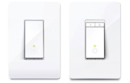 Kasa Smart Wi-Fi Light Switch and the Kasa Smart Wi-Fi Light Switch/Dimmer