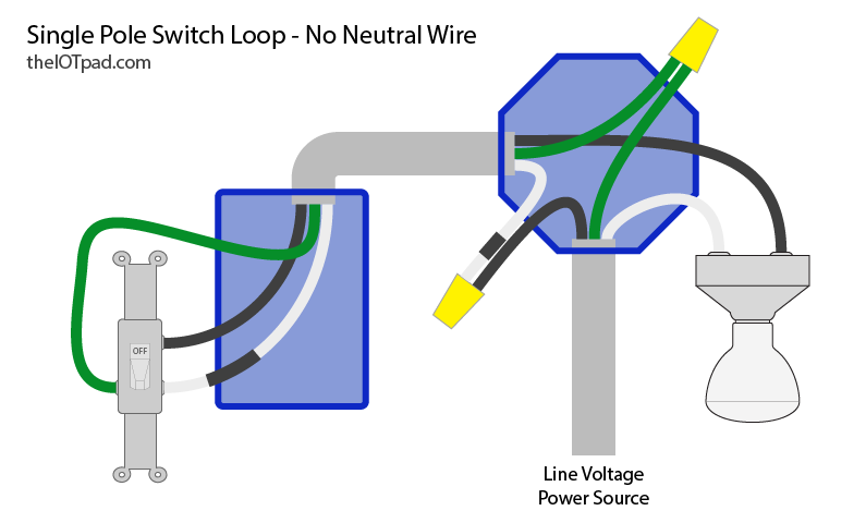 smart switches no neutral wire? theiotpad diy home automation
