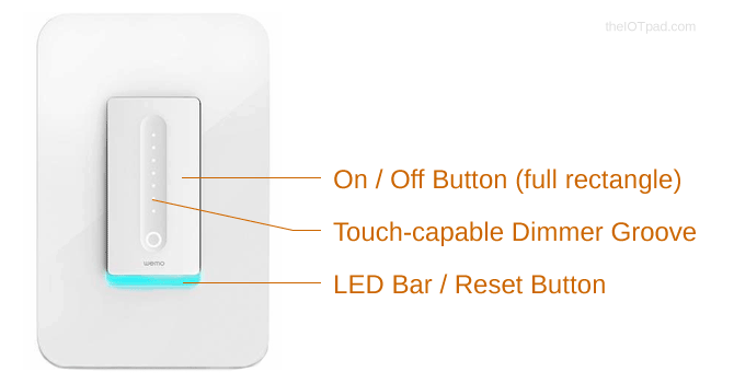 Wemo WiFi Smart Dimmer Features